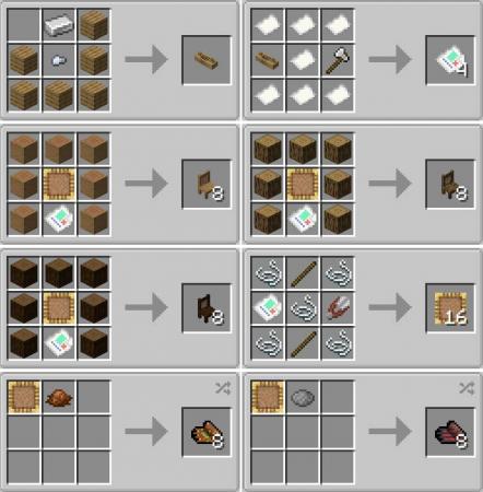 Скачать TableChair для Minecraft 1.16.4