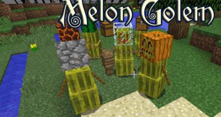Скачать Melon Golem для Minecraft 1.16.5
