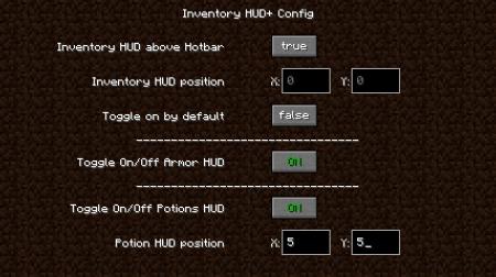 Скачать Inventory HUD Plus для Minecraft 1.17