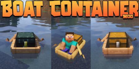 Скачать Boat Container для Minecraft 1.17