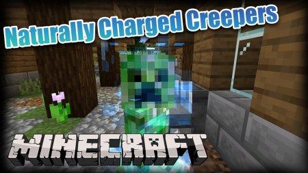 Скачать Naturally Charged Creepers для Minecraft 1.17.1