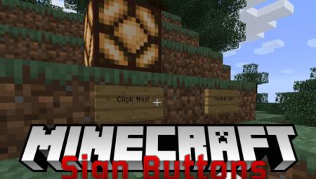 Скачать Sign Button для Minecraft 1.17