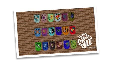 Скачать JJ Coats of Arms для Minecraft 1.12.1