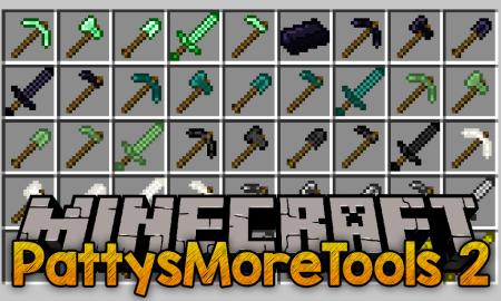 Скачать PattysMoreTools 2 для Minecraft 1.15.2