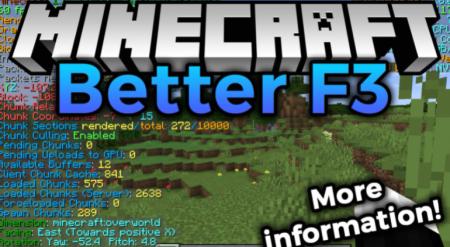 Скачать BetterF3 для Minecraft 1.17.1