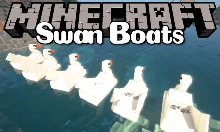 Скачать Swan Boats для Minecraft 1.12